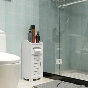 Waterproof White Bathroom Cabinet Storage Floor Standing ...