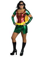 Adult Female Robin Party Fancy Dress Costume Batman Superhero Sexy Ladies BN