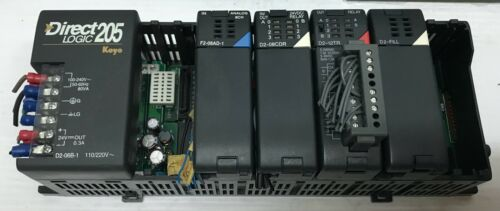 KOYO DIRECT LOGIC 205 WITH F2-08AD-1 D2-08CDR D2-12TR AND D2-FILL