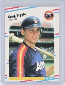 1988-Fleer-Update-U-89-CRAIG-BIGGIO-Rookie-RC-Astros-HOF