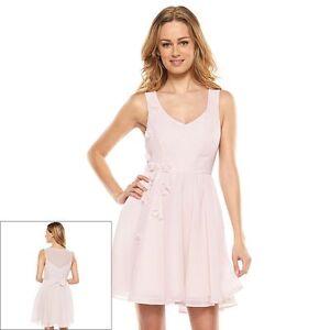 Lauren-Conrad-Disney-Cinderella-Pink-Mesh-Back-Chiffon-Dress-10-12-CLEARANCE