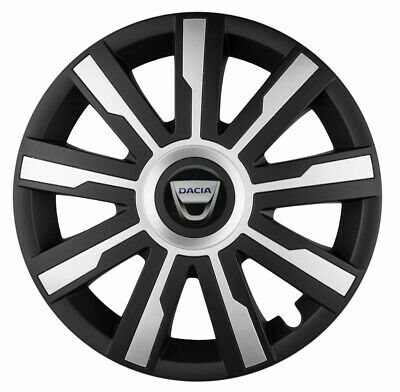 15/'/' Wheel trims for DACIA SANDERO black//silver 4x15/'/'