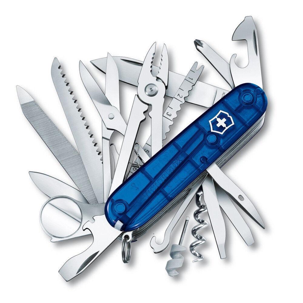 VICTORINOX SWISS CHAMP blue - SCHWEIZER TASCHENMESSER 91  MM - 33 FUNKTIONEN  waiting for you