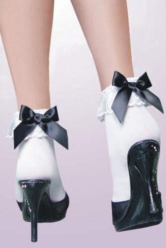 stocking fabric cute accessories Ladies Black Bow mini socks