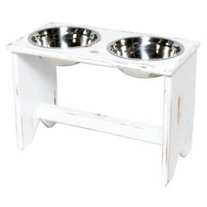 Details About Elevated Dog Bowls Stand Wooden 2 350 Mm 14 Tall Raised