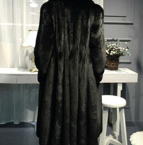 2019 Hot Chic Luxury Women Genuine Mink Fur Thick Winter Long Coat Parka Outwear