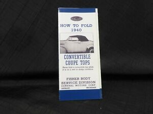 1940-Cadillac-LaSalle-Convertible-Folding-Top-Instructions-by-Fisher-Body