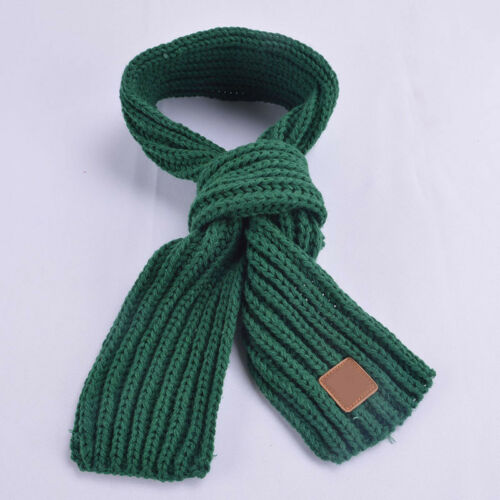 Baby Knit Scarf Winter Children Girls Boys Knitted Wool Kids Warm Scarf