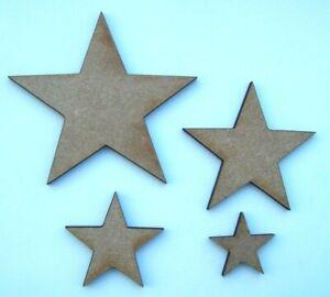 Bien Informé Mdf En Bois Découpé Au Laser Star Formes, Craft Making, Décoration, Peinture-afficher Le Titre D'origine