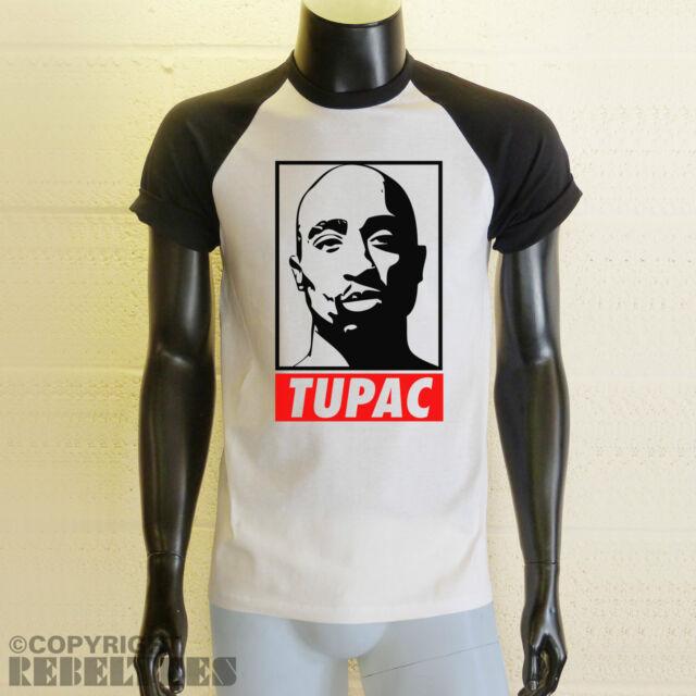Tupac Shakur baseball T-SHIRT 2pac Long or short sleeved sleeves rap face print
