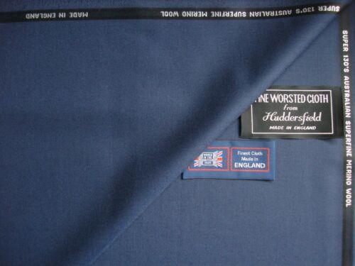 """100/% Super 130's LAINE drap tissu dans /""""Air Force bleu//acier Bleu/"""" = 3.18 M"""