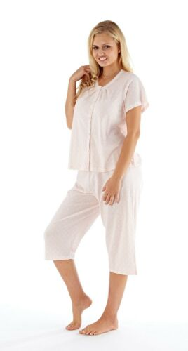 Womens Pyjamas Suit Set three quarter Cotton Summer Ladies Loungewear Night pjs