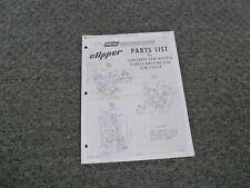 Norton Clipper C 18 C 9 C 5 Concrete Saw Parts Catalog Manual