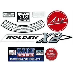 HOLDEN-HD-X2-ENGINE-BAY-DECAL-KIT-RARE-SPARES-BRISBANE-SOUTH