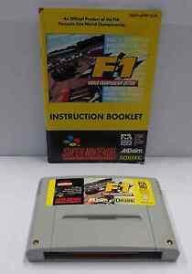 Console-Game-Gioco-SUPER-NINTENDO-SNES-16-BIT-F1-WORLD-CHAMPIONSHIP-EDITION-EUR