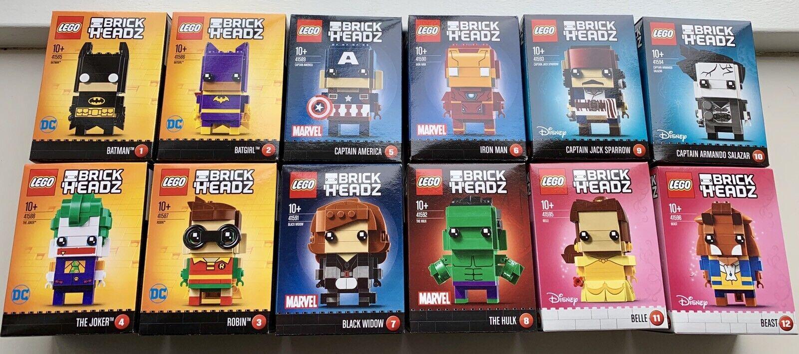 12 Lego Brickheadz 41585-41596, number 1 2 3 4 5 6 7 8 9 10 11 12 new sealed