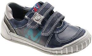 Naturino-Garcons-Antony-Marine-Cuir-Gris-Europeen-Chaussure-Sneaker