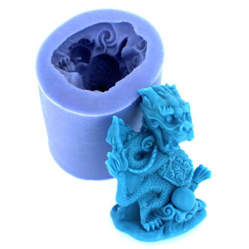 Nicole R1108 3D Dragon Salt Carving Silicone Molds DIY Resin,Clay Crafts Moulds