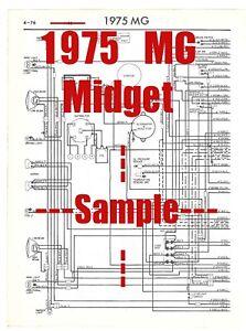 midget wiring diagram 1975 mg midget full car wiring diagram  high quality printed copy  1975 mg midget full car wiring diagram