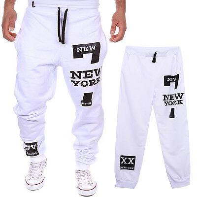 Fashion Men's Track Pants Cuff Trousers Slacks Sport Sweatpants Baggy Tracksuit