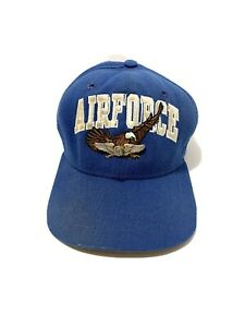 New-Era-Air-Force-Vintage-Snapback-Blue-Hat-90s-USA