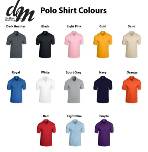 Custom Printed Polo Shirt Unisex Personalised Club Workwear Event Stag