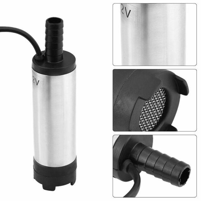 DE 38mm Edelstahl Wasser Pumpe Transfer Tauchpumpe für KFZ Diesel Öl 12L//min 12V