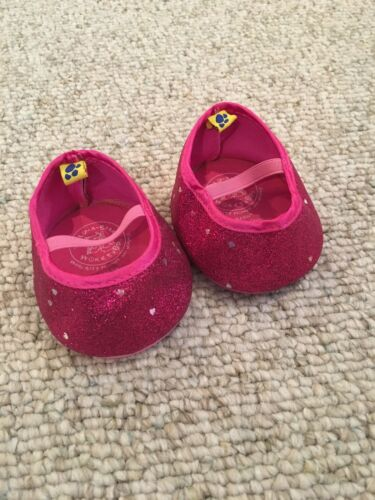 BUILD A BEAR Hot Pink Sequins Shoes