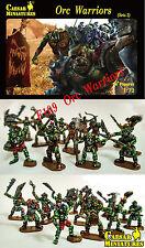 Caesar Miniatures 1/72 F109 Orc Warriors (Set.2) (34 Figures) (Fantasy Series)