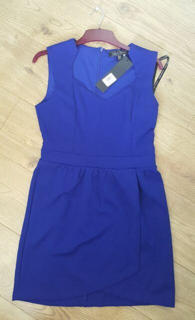 girls on film blue dress size 14 bnwt