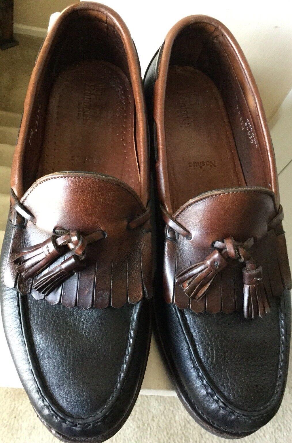 Allen Edmonds Nashua Mens Kiltie Tassel Loafers Size 9.5D Black Brown