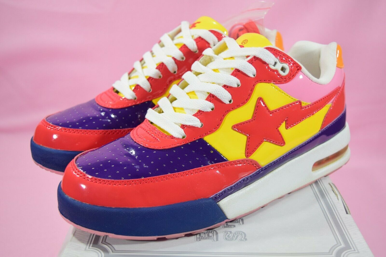 9854a362bf36 Og Bape Roadsta 16th Anniversary  Red Camo  Purple US 7.5 Bapesta Bathing  Ape