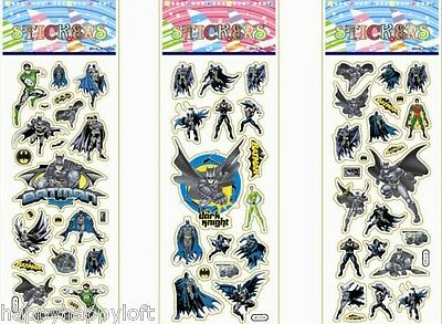 9 Packs - Batman Stickers Party Bag Fillers Puffy 3D Boys Birthday Superheroes