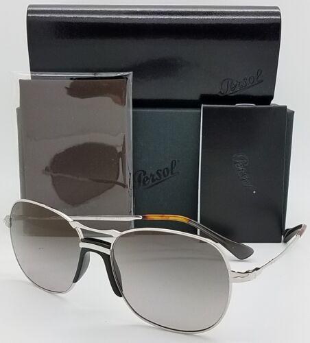 NEW PERSOL sunglasses PO2449S 518//M3 Silver Grey Polarized 2449 Wire AUTHENTIC