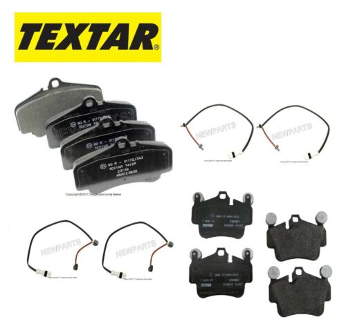 For Porsche 911 Carrera 4 GTS Targa 4S Front /& Rear Brake Pads /& Sensors Textar