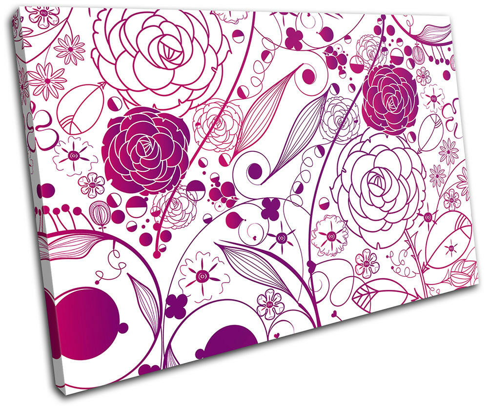 Abstract LONA Flowers Modern Pink Floral SINGLE LONA Abstract pared arte Foto impresion 9ee83d