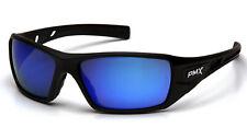 Pyramex Velar Safety Glasses Sunglasses Work Eyewear Black Frame Ice Blue Mirror