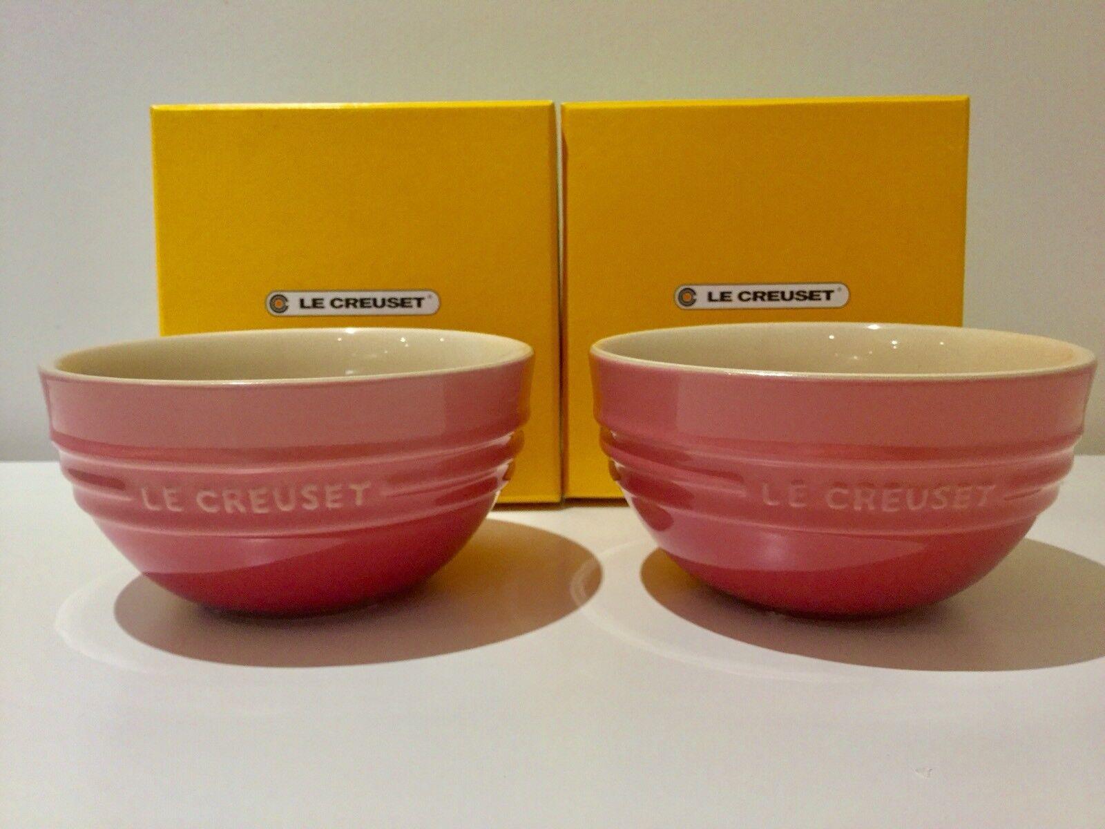 molto popolare NUOVO in scatola JAPAN EDITION EDITION EDITION Le Creuset ciotola di riso Set di 2 Quarzo rosa  offerta speciale