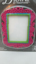 "Blank Slate 2 5/8"" x 2 1/8"" Fuschia Picture Frame with Paintable insert Pendant"
