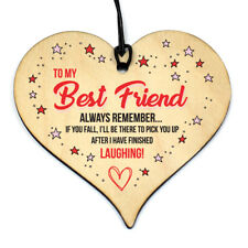 Friendship Sign Thank you Best Friend Plaque Wood Hanging Board Home Decor Gift