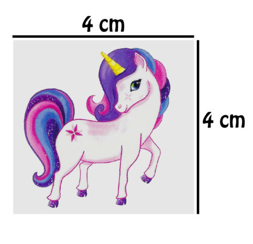 UNICORNS 1-12 Packs Of Kids Temporary Tattoo Transfers Party Bag Filler