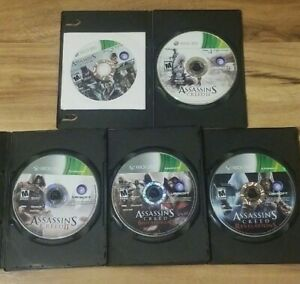 Lot-of-4-ASSASSIN-039-S-CREED-2-3-Revelations-Brotherhood-Xbox-360-Discs-Only