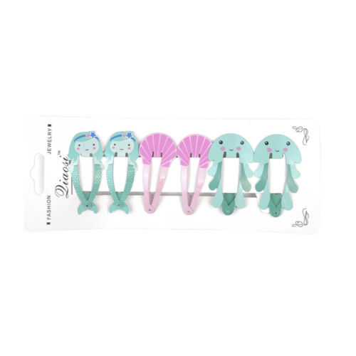 6Pcs Girls baby Hair Clips Snaps Hairpin Cute Baby Kids Hair Bow Accessories