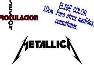 Metallica Music Heavy Metal ROCK BAND PEGATINA VINILO STICKER ADHESIVO ref1589