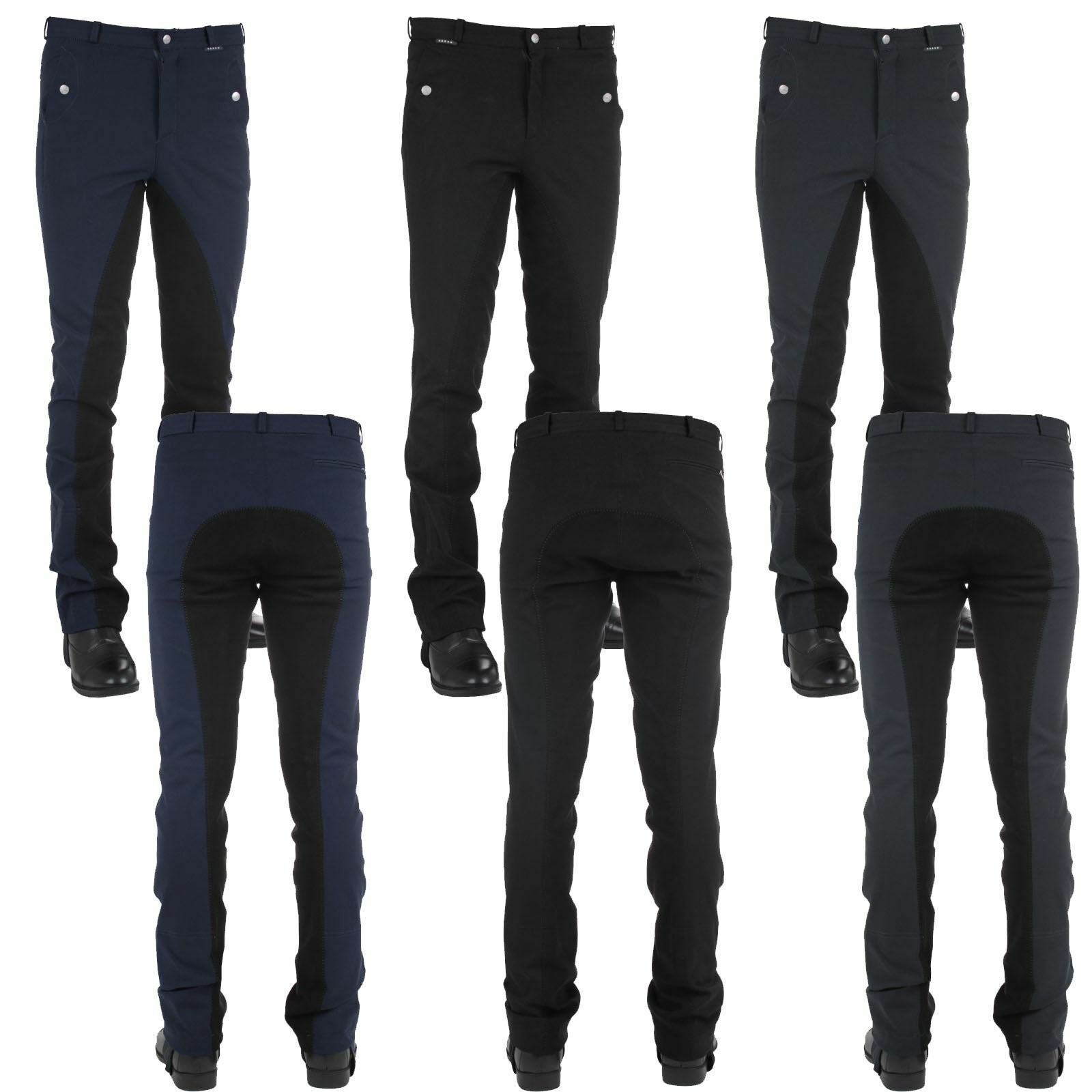 Horka Equestrian Mens Oslo Comfort Breathable 4 4 Stretch  Leather Seat Breeches  online sale