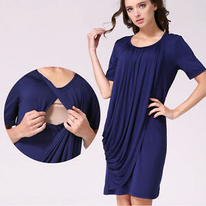 Maternity Nursing Breastfeeding Dresses Pregnancy Clothes For Pregnant Women Ebay