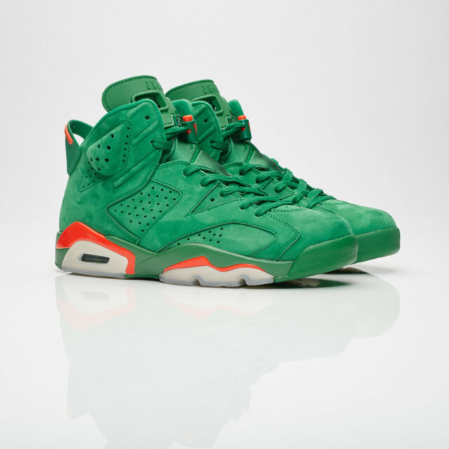 a10135a116a Nike Air Jordan 6 Retro NRG Suede Green GATORADE AJ5986-335 Authentic size  9.5