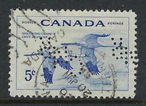 Perfin-C28-CNR-Winnipeg-MB-Scott-353-5c-Whooping-Crane-in-Flight-CDS