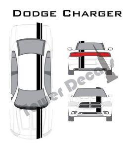"3-5/"" Single Rally Racing Pin Stripe Cast Vinyl Decal Fits Dodge Ram"