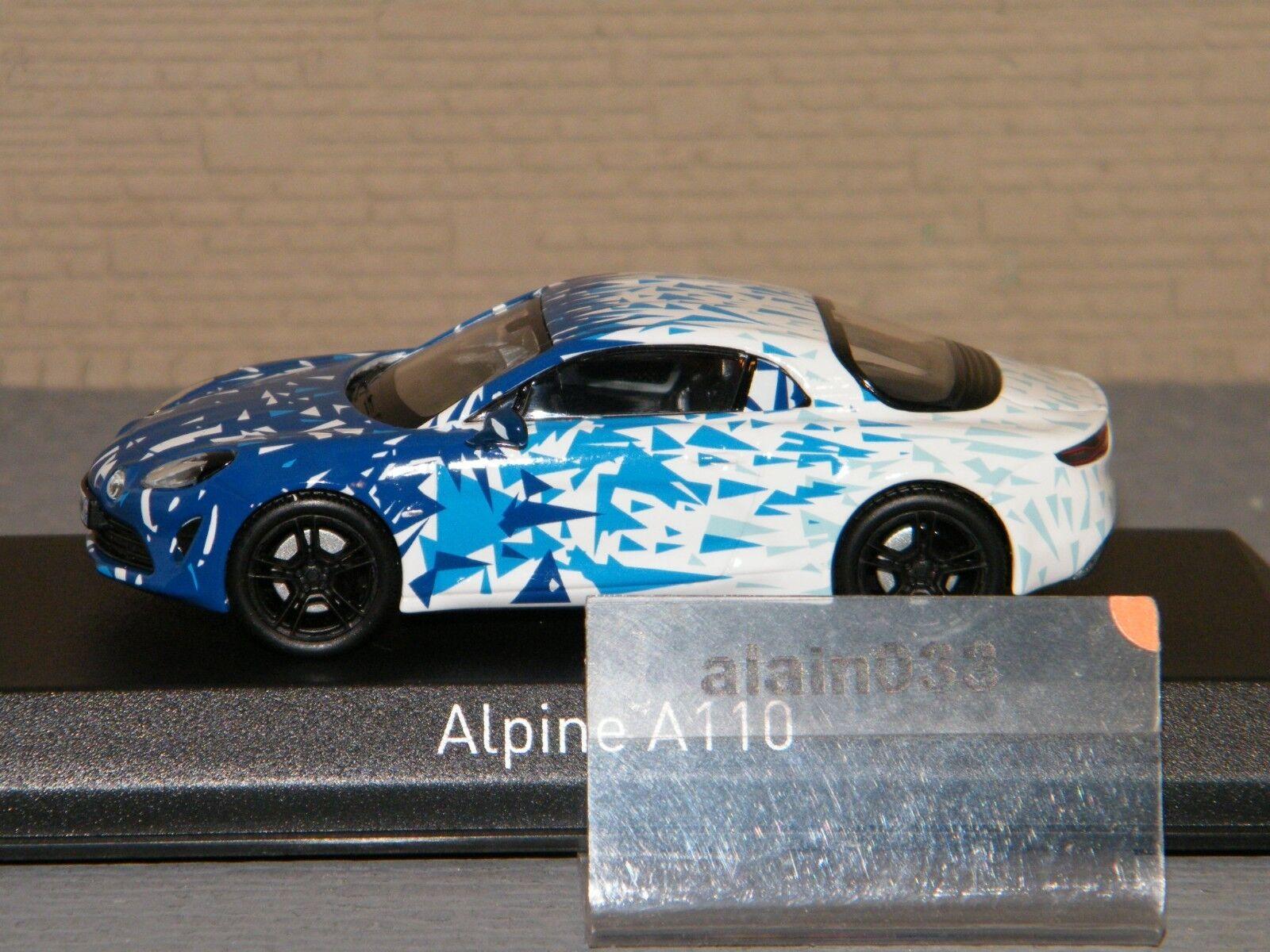 ALPINE A110 2017 blanco & & & azul Test Version NOREV 1 43 Ref 517863 f87f5a